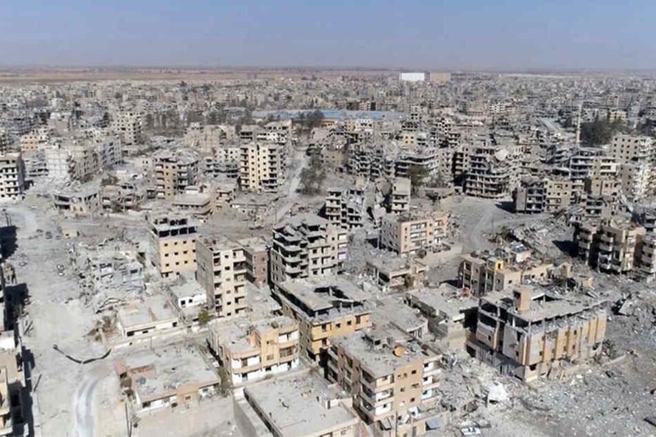 Die Terror-Hochburg Al-Rakka in Syrien kurz nach der Zerstörung durch syrische demokratische Kräfte