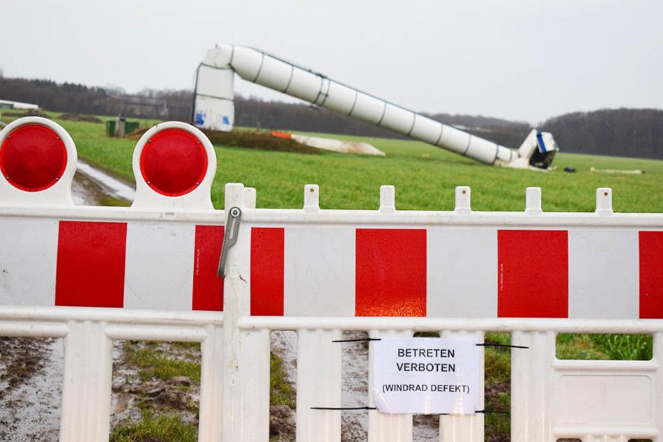 Die Rotorblätter konnten vermutlich nicht mehr entsprechend der Windstärke ausgerichtet werden.
