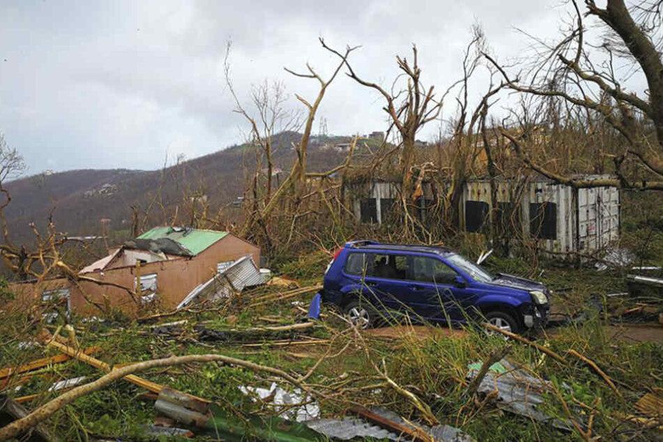 Ein Bild der Zerstörung auf den britischen Jungferninseln.