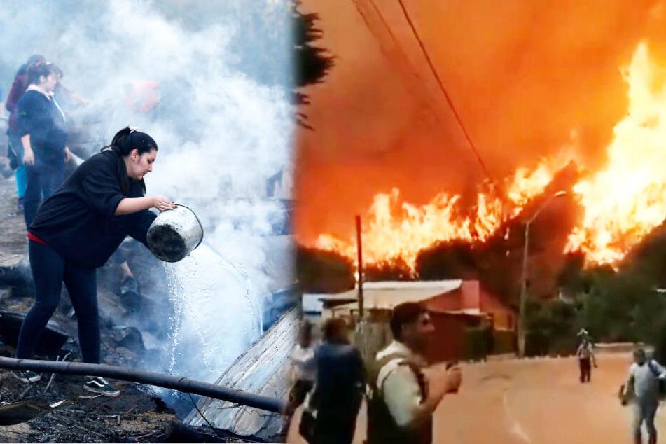 Feuerwalze frisst sich an Weihnachten durch Hafenstadt und zerstört Hunderte Häuser