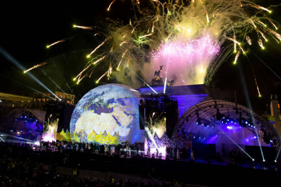 Zum krönenden Abschluss gab es am Brandenburger Tor noch ein Feuerwerk.