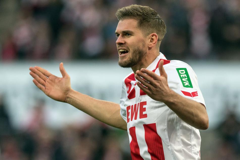 Simon Terodde (30) trifft am Sonntag auf Ex-Klub VfB Stuttgart.
