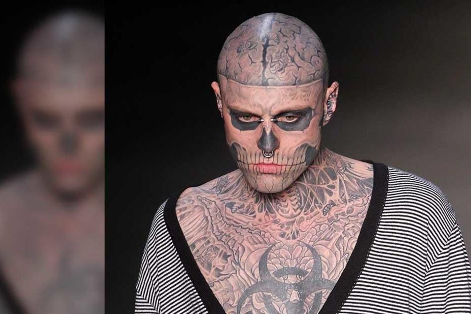 """Rick Genest alias """"Zombie Boy"""" hat sich offenbar das Leben genommen."""