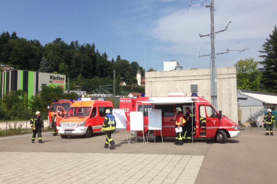 Feuerwehr ist am Einhorntunnel im Einsatz.