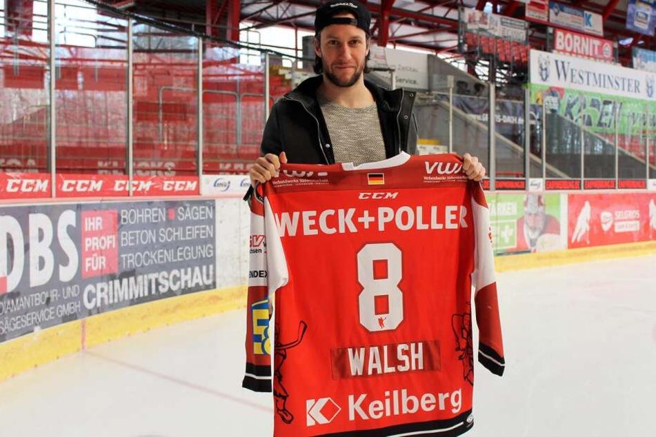Mit Dominic Walsh bleibt ein weiterer Leistungsträger den Eispiraten in der kommenden Saison treu.