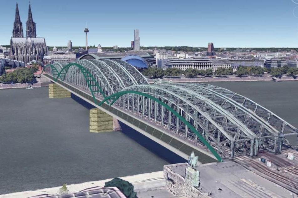 Visualisierung: So könnte die neue Brücke an der Hohenzollernbrücke aussehen.