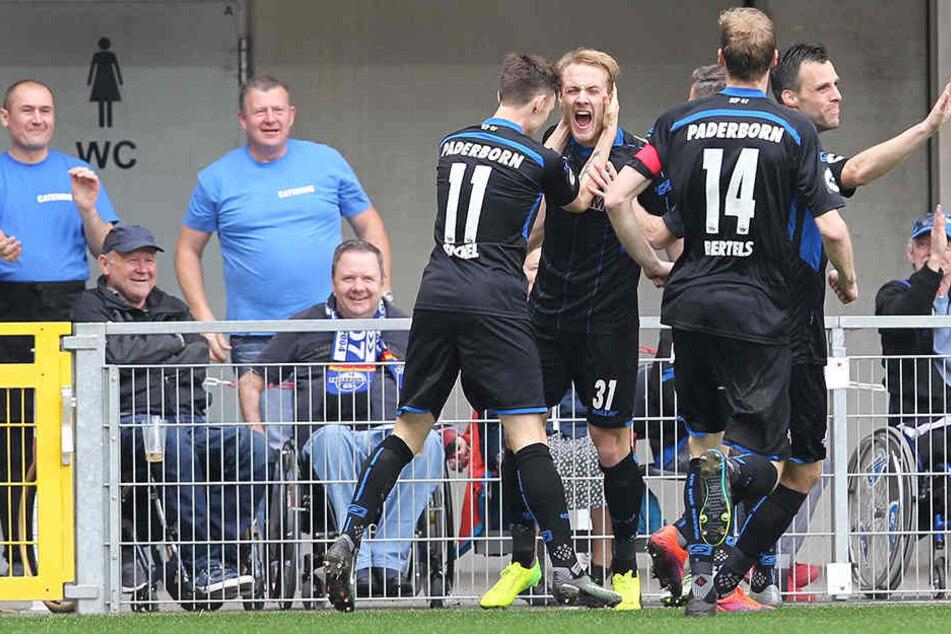 Zolinski schoss die Paderborner in der 3. Minute in Führung.