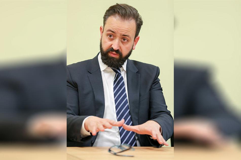 Justizminister Sebastian Gemkow wusste offenbar nichts von dem Vorfall. Es soll jetzt geprüft werden, ob es sich um eine Straftat handelt.