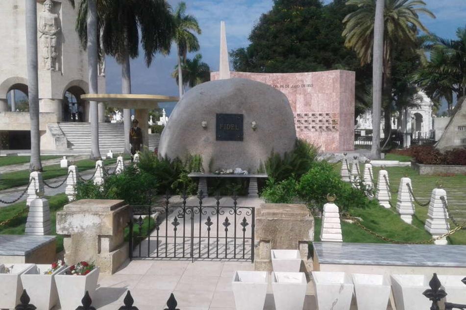 Das Grab von Fidel Castro in Santiago.