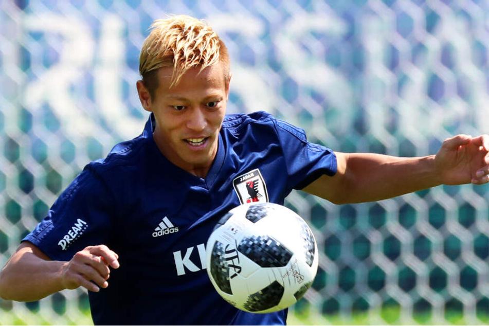 Keisuke Honda ist seit Anfang Juli vereinslos und war verzweifelt bei Twitter auf der Suche nach einem neuen Klub.