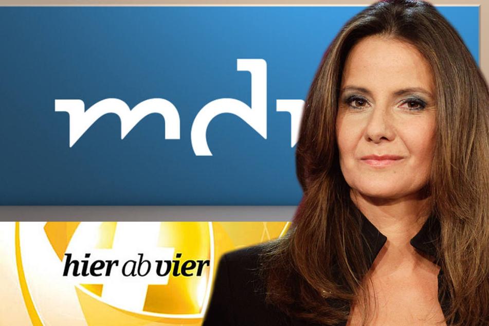 """Bei """"Hier ab vier"""" führte Karin Huß (49) Interviews und tolle Gespräche mit über 2000 Gasten!"""
