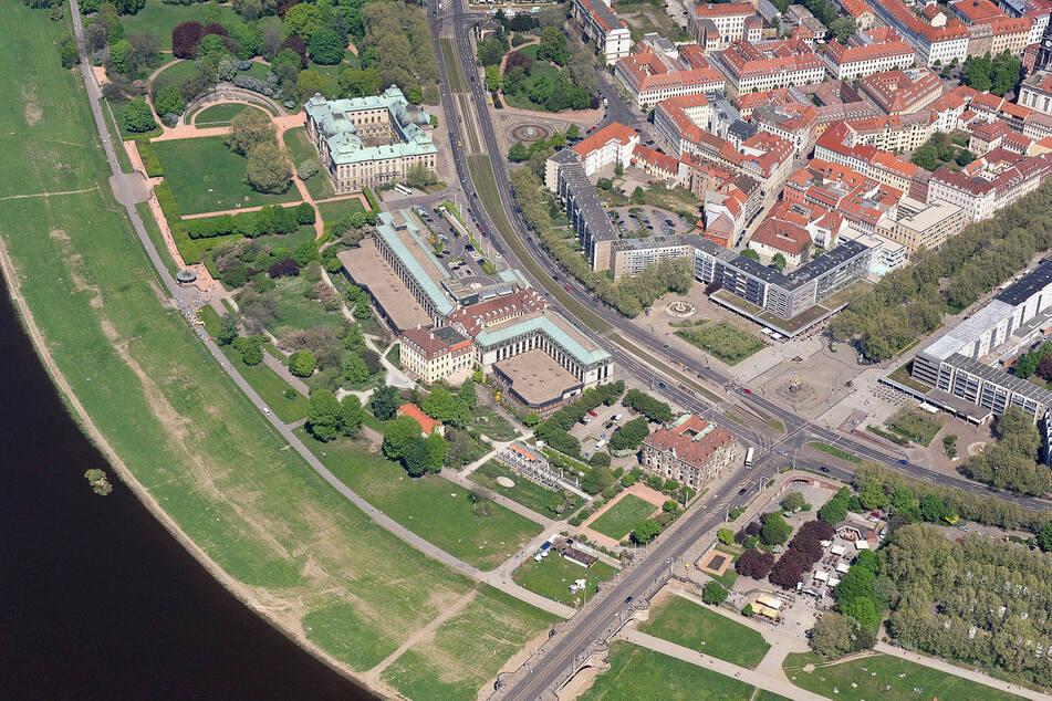 Die Freiflächen am Königsufer sollen bebaut werden, der Neustädter Markt sehr wahrscheinlich frei bleiben.
