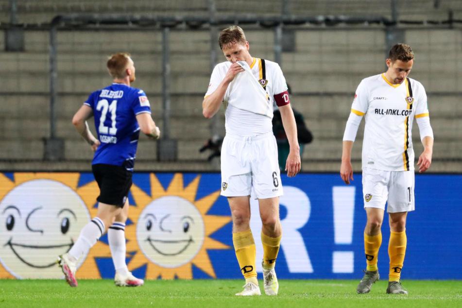 Marco Hartmann (M.) hat bei Dynamo schon viel erlebt - wahrscheinlich droht ihm auch der zweite Abstieg.