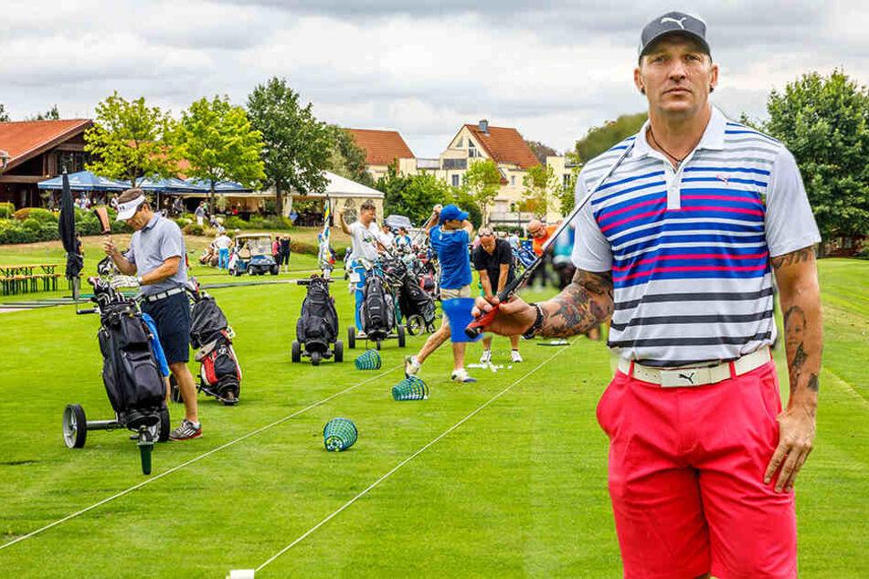 Golfen für den guten Zweck: Promis schlagen in Dresden auf
