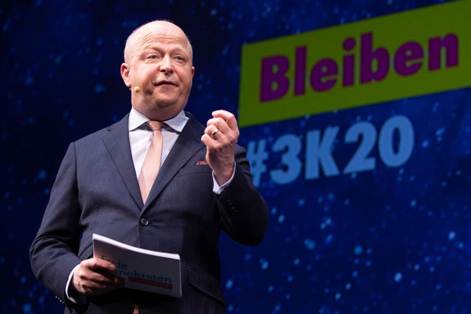 Michael Theurer (FDP) umwarb zuletzt die Grünen und sprach von einer möglichen grün-gelben Regierung nach der Landtagswahl.