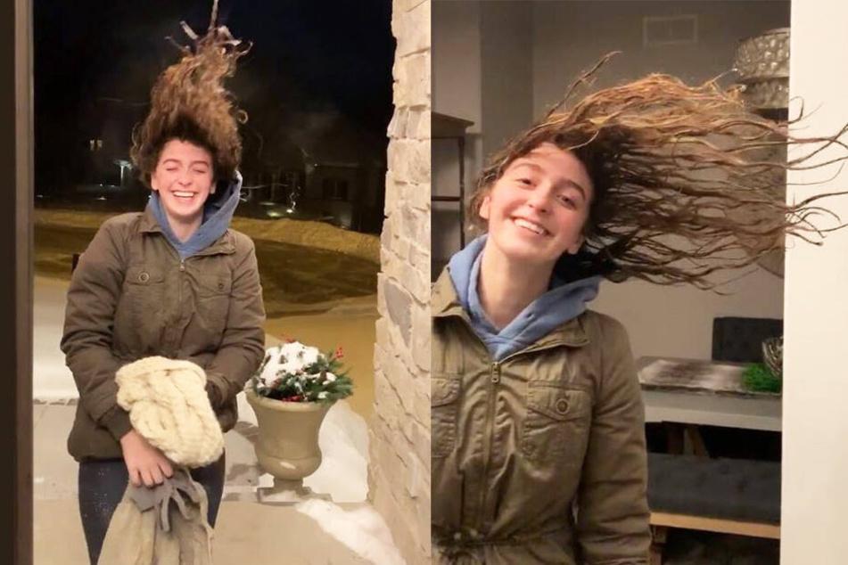 Das passiert, wenn man bei minus 40 Grad mit nassen Haaren nach draußen geht