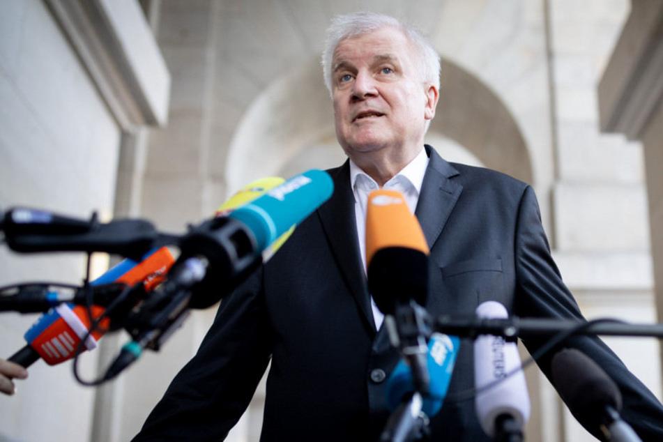 Horst Seehofer beim Koalitionsausschuss in Berlin.