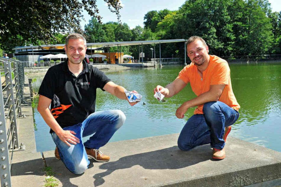 Pelzmühlen-Betreiber André Gruhle (42) hofft, dass die Fontäne 2019 wieder auf Vordermann gebracht wird.