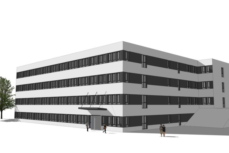 """An der """"Konsequenz"""" entsteht ein neues Bürogebäude."""