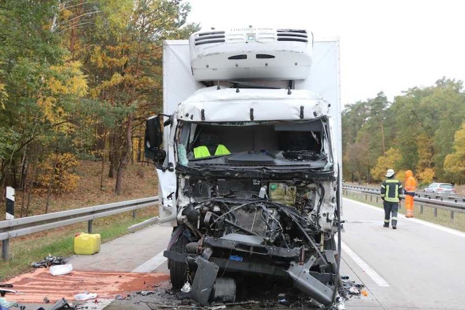 In diesem Führerhaus verstarb der Laster-Fahrer noch an der Unglücksstelle.