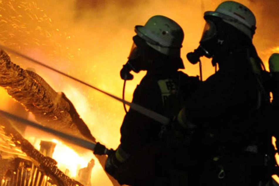 Die Feuerwehr rückte mit 100 Mann aus. (Symbolbild)