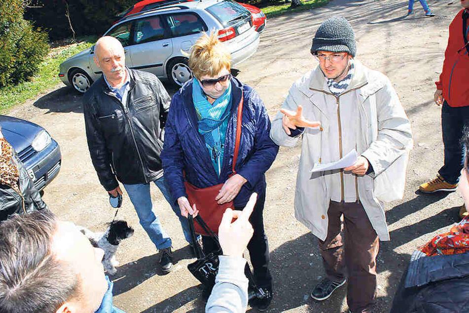 Umweltschützer protestierten gegen die geplante Müllverbrennungsanlage am Weißen Weg.