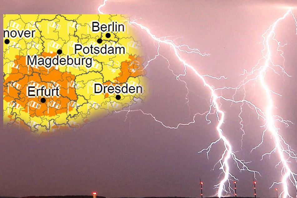 Der Deutsche Wetterdienst warnt vor schweren Gewittern und Sturmböen.