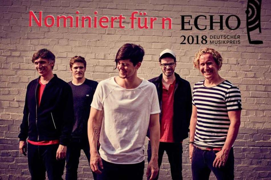 """Die fünf Musiker sind mit dem Album """"Mer sin Eins"""" für den Echo nominiert."""