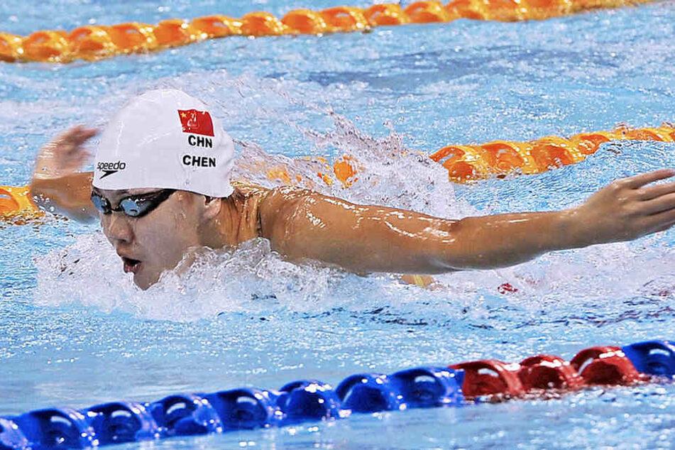 Die Chinesin wurde beim Finale über 100 Meter Schmetterling Vierte.
