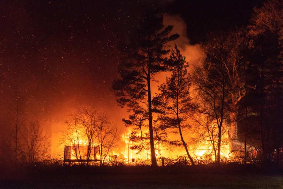 Meterhohe Flammen: Dicke Rauchschwaden ziehen über Harburg!