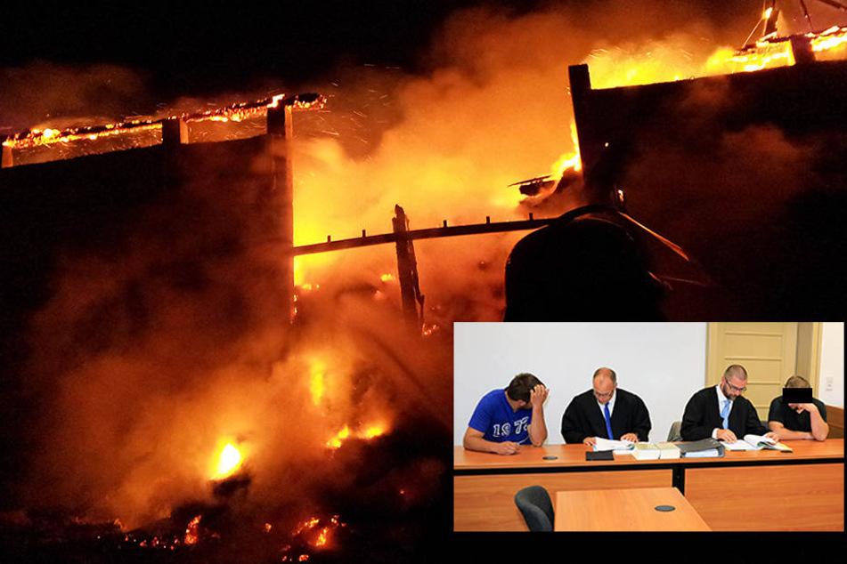 Sie wollten Helden sein: Feuerwehr-Männer fackeln Scheune ab