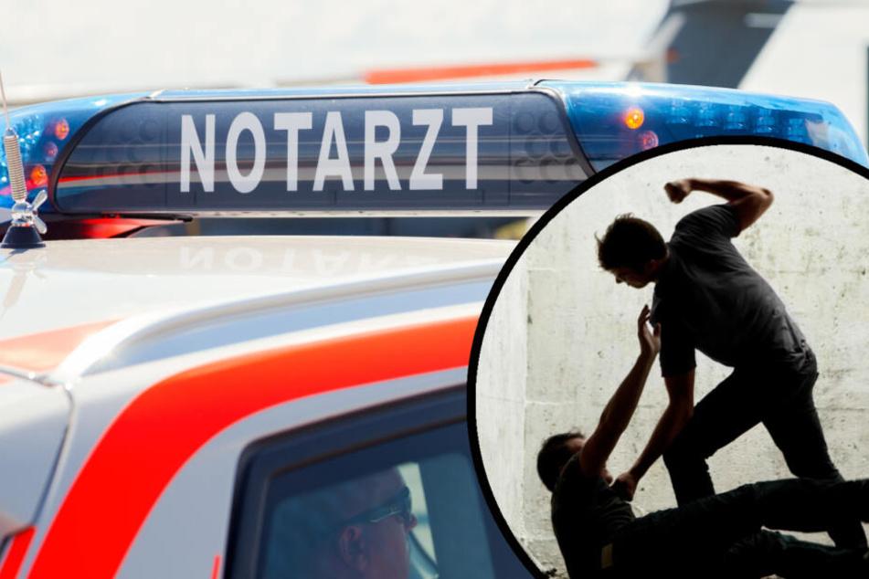 Das alkoholisierte Opfer musste während seiner Vernehmung ins Krankenhaus eingeliefert werden. (Symbolfoto / Bildcollage)