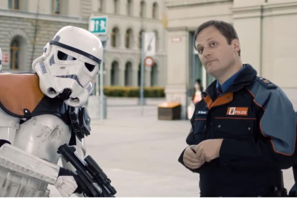 Stormtrooper vs. Schweizer Polizei.