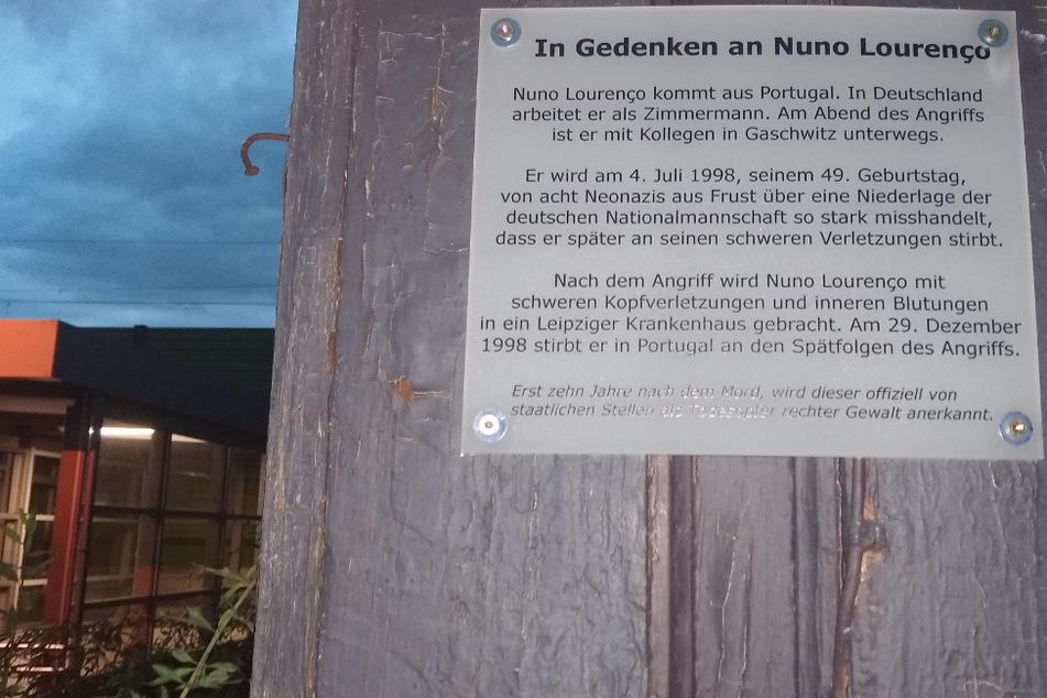 Leipzig: Todesopfer rechtsextremer Gewalt: Gedenktafel für Portugiesen Nuno Lourenço