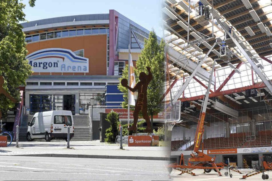"""Stadt Dresden vertröstet auf """"irgendwann""""! Dach-Probleme der Margon Arena angeblich nicht behebbar"""