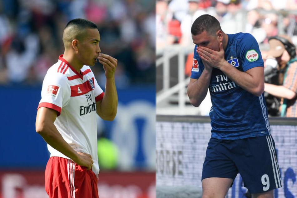 Bobby Wood (links) und Kyriakos Papadopoulos erhalten nach verkorksten Spielzeiten eine neue Chance.