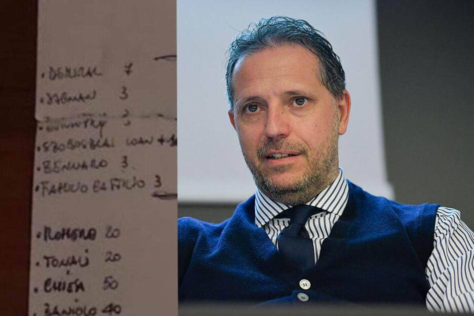 Juve-Sportdirektor lässt vertrauliche Transferliste in Restaurant liegen
