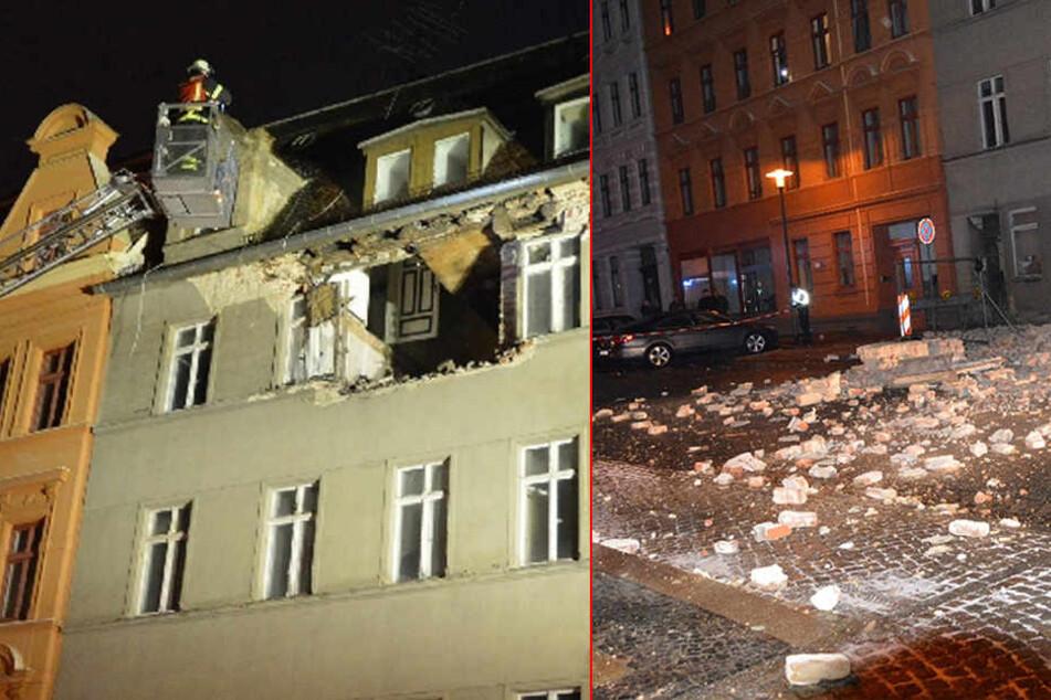 Fassade von Mehrfamilienhaus in Görlitz eingestürzt