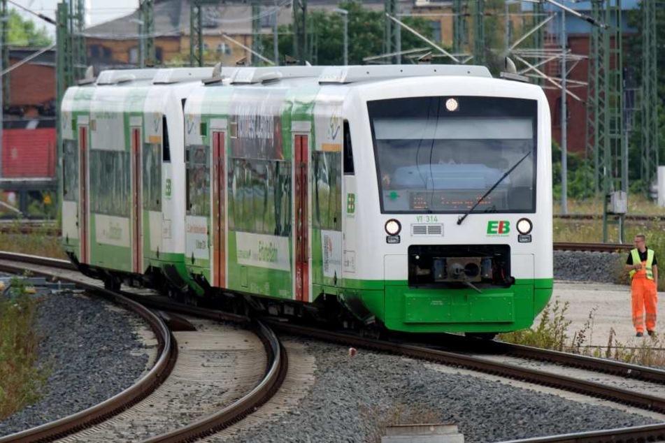 Der Zug der Erfurter Bahn wurde bei dem Vorfall beschädigt. (Archivbild)