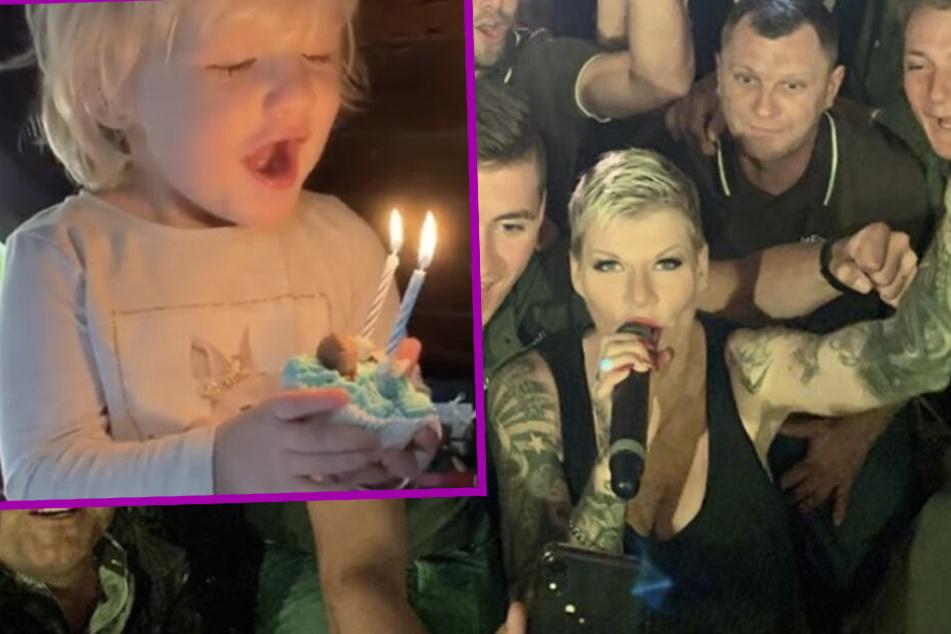 Melanie Müller feiert Geburtstag ihrer Tochter, am Abend steht sie wieder auf der Bühne