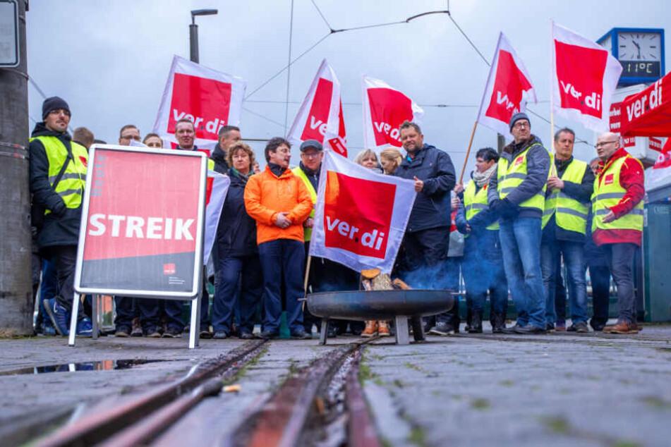 Die Beschäftigten des öffentlichen Nahverkehrs streikten.