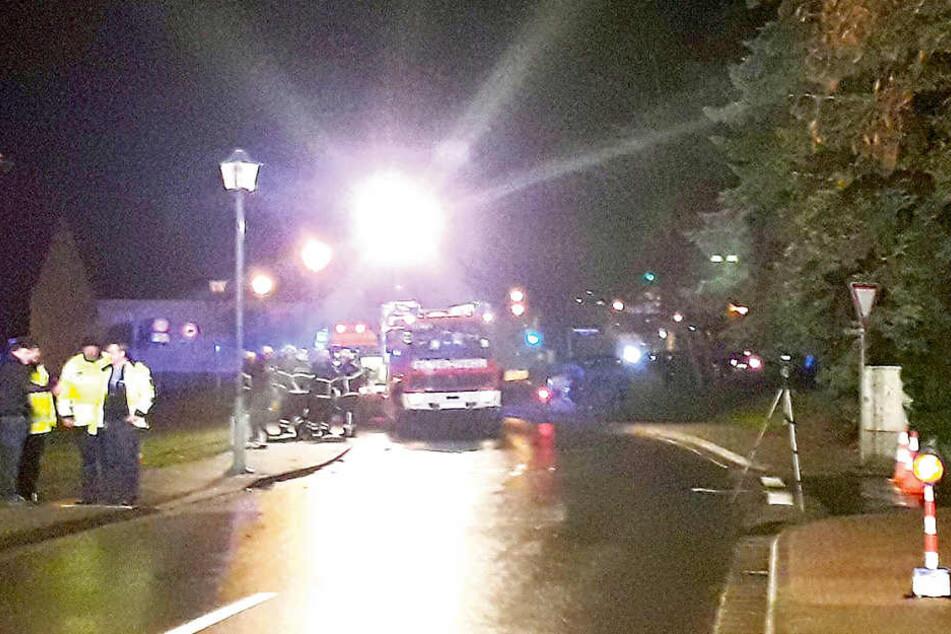 Auf der Schmiedeberger Straße in Bad Düben ereignete sich der tragische Unfall.