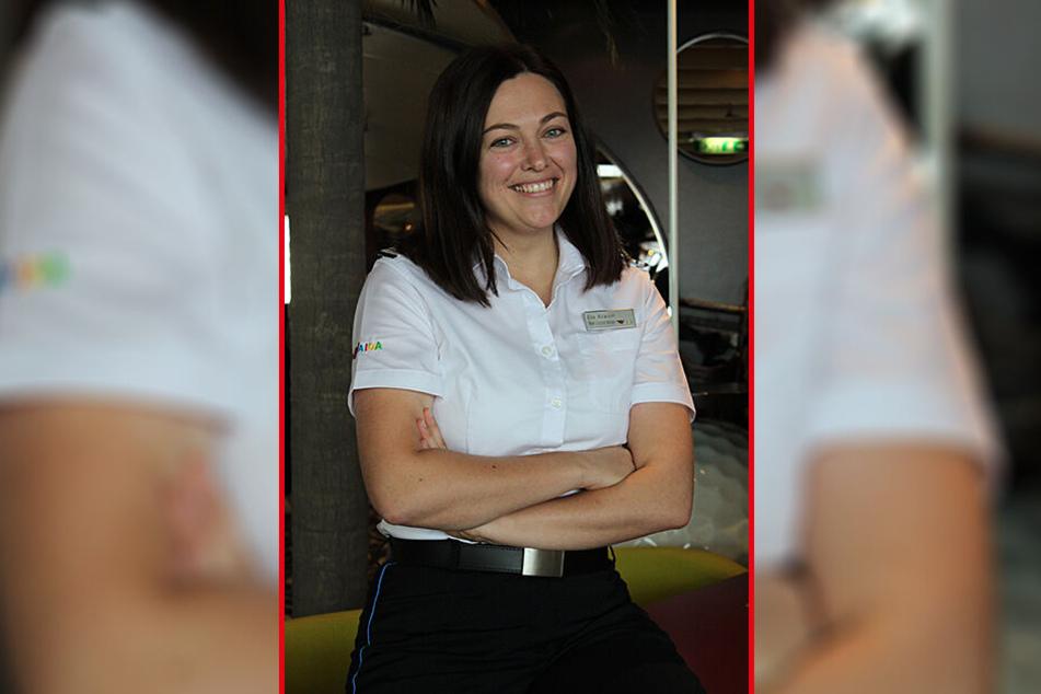 Sie organisiert auf dem Schiff die Landausflüge: Eva Krause (30) aus Schirgiswalde liebt ihren abwechslungsreichen Job.