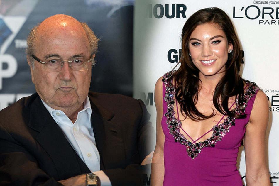 Schwere Vowürfe: Hat Sepp Blatter schöne US-Fußballerin belästigt?