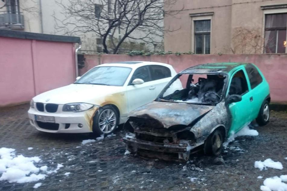 Der Opel Corsa hat nur noch Schrottwert.
