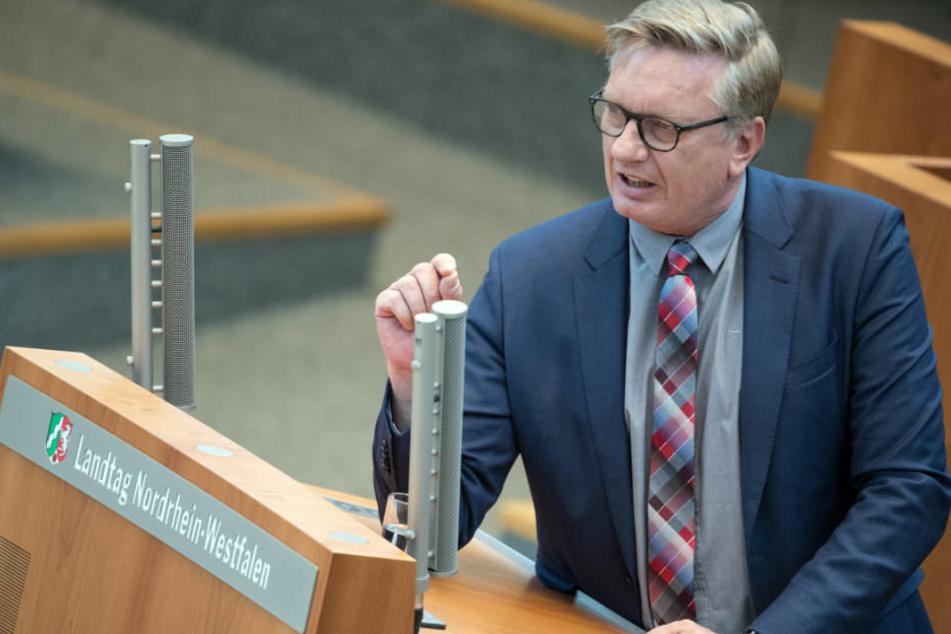 Der AfD-Vorsitzende Markus Wagner erregte die Gemüter im NRW-Landtag.