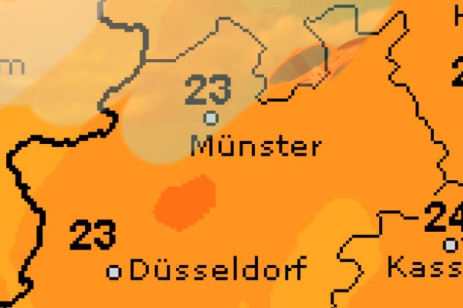 Das Thermometer steigt am Pfingstwochenende auf ungefähr 25 Grad.