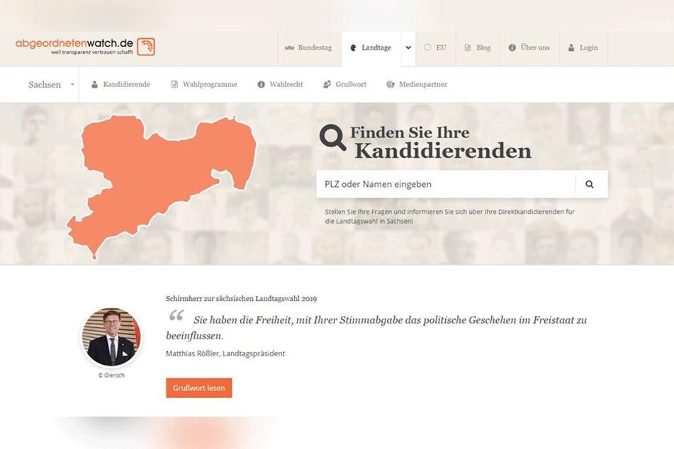 """Auf der Internetseite """"abgeordnetenwatch.de"""" können die Sachsen jetzt ihre Direktkandidaten checken."""