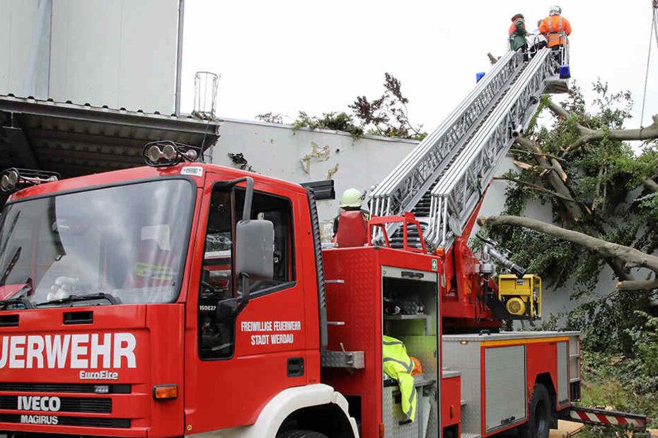 Die Feuerwehren hatten alle Hände voll zu tun mit den Sturmschäden.