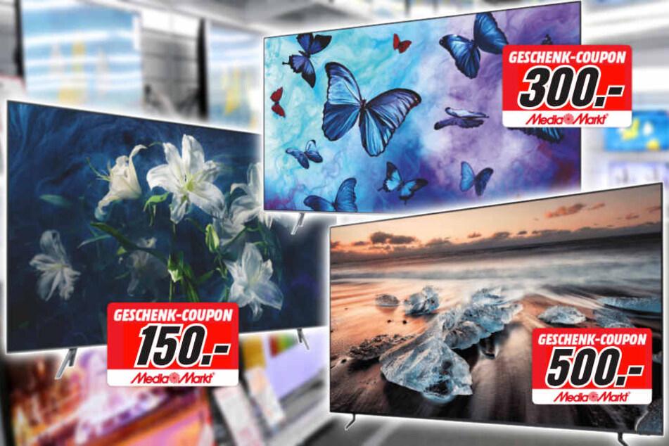 Auf ausgewählte Samsung-TVs bekommt Ihr einen Coupon in Höhe von bis zu 500 Euro!
